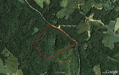 map land for lease KY Kentucky Dream Hunter Butler County farm hunting hunt timber whitetail deer turkey